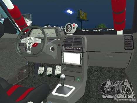 VAZ 2110 ADT Tuning pour GTA San Andreas sur la vue arrière gauche