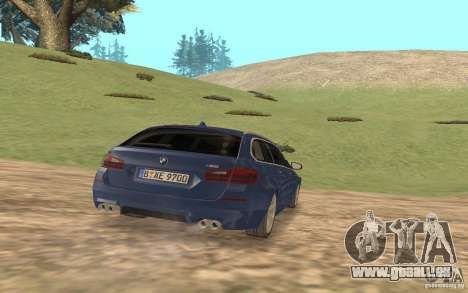 BMW M5 F11 Touring pour GTA San Andreas vue intérieure