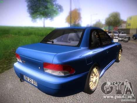 Subaru Impreza 22b Tunable für GTA San Andreas zurück linke Ansicht