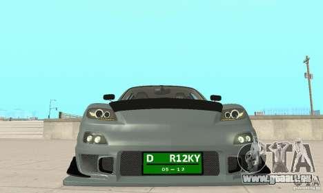 Mazda RX-8 Tuning pour GTA San Andreas vue de côté