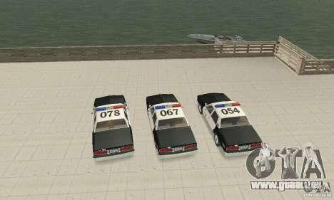 Chevrolet Caprice Interceptor 1986 Police pour GTA San Andreas vue intérieure