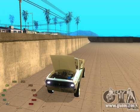 GAZ Volga 2410 el Cabrio für GTA San Andreas zurück linke Ansicht
