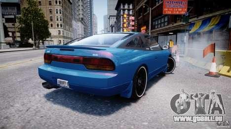 Nissan 240sx v1.0 für GTA 4 hinten links Ansicht
