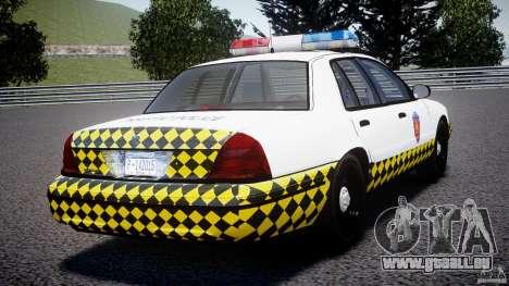 Ford Crown Victoria Karachi Traffic Police für GTA 4 hinten links Ansicht