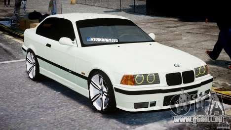 BMW e36 M3 für GTA 4 Rückansicht