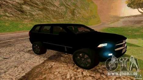 Dodge Durango 2012 pour GTA San Andreas laissé vue