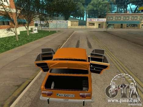 VAZ 2101 restauré pour GTA San Andreas vue arrière