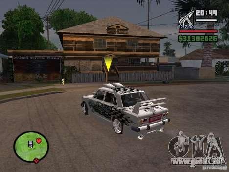 Tuning de voiture Vaz 2101 pour GTA San Andreas vue de droite