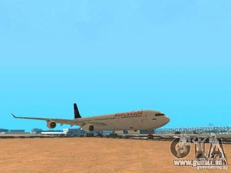 Airbus A340-300 Air Canada pour GTA San Andreas laissé vue