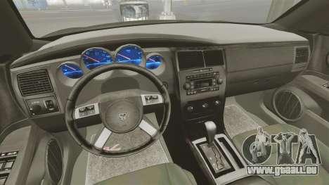 Dodge Charger RT Hemi FBI 2007 für GTA 4 Rückansicht