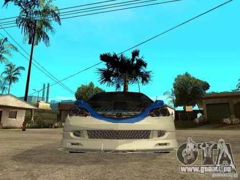 Acura RSX Shark Speed pour GTA San Andreas vue de droite