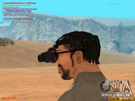 NV Goggles pour GTA San Andreas troisième écran