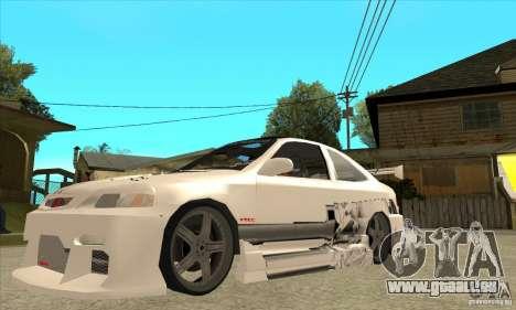 Honda Civic Tuning Tunable pour GTA San Andreas vue de dessous