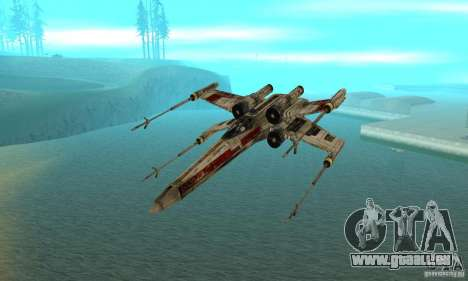 X-WING de Star Wars v1 pour GTA San Andreas vue de droite