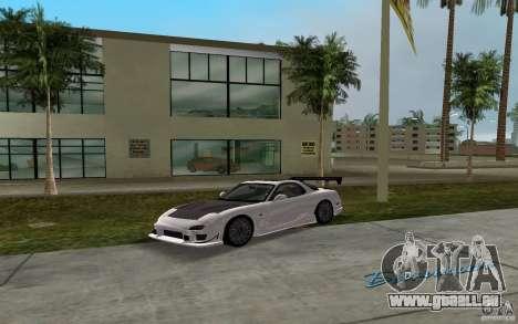 Mazda RX-7 FD3S pour GTA Vice City sur la vue arrière gauche
