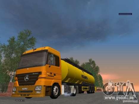 Remorque pour Mercedes-Benz Actros Rosneft pour GTA San Andreas vue arrière