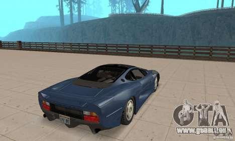 Jaguar XJ220 pour GTA San Andreas laissé vue