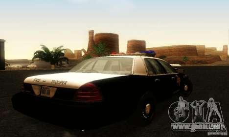 Ford Crown Victoria Texas Police für GTA San Andreas linke Ansicht