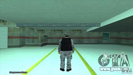 Army Soldier v2 pour GTA San Andreas deuxième écran