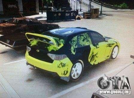 Subaru Impreza WRX pour GTA 4 est une gauche