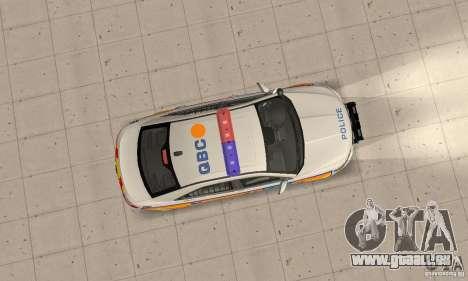 Ford Taurus 2011 Metropolitan Police Car pour GTA San Andreas vue de droite