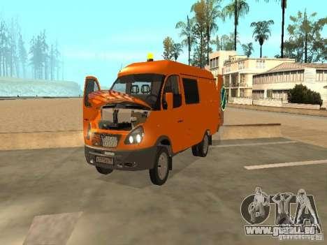 Gazelle 2705 Highway patrol für GTA San Andreas Rückansicht