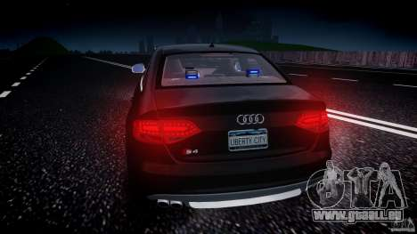 Audi S4 Unmarked [ELS] pour GTA 4 Salon