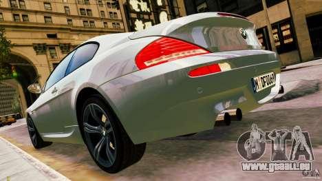 BMW M6 2010 pour GTA 4 est une gauche