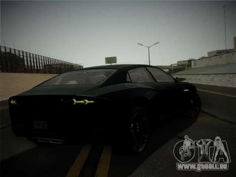 Lamborghini Estoque Concept 2008 für GTA San Andreas obere Ansicht