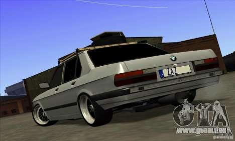 BMW E28 525e RatStyle No1 pour GTA San Andreas laissé vue
