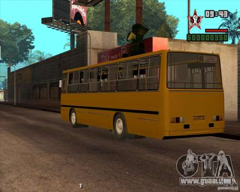 Ikarus 260.04 pour GTA San Andreas laissé vue