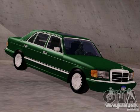Mercedes-Benz 500SEL für GTA San Andreas zurück linke Ansicht
