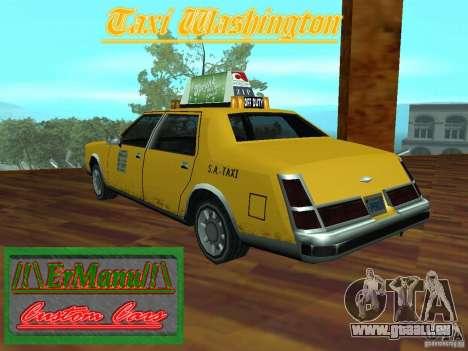 Taxi Washington für GTA San Andreas linke Ansicht