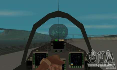Eurofighter 2010 pour GTA San Andreas vue arrière