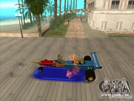 Dragg car pour GTA San Andreas vue intérieure