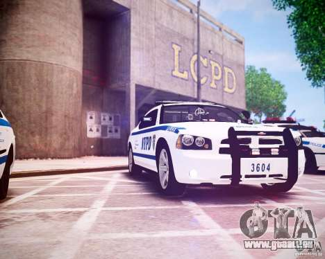 Dodge Charger 2010 NYPD ELS für GTA 4 Innenansicht