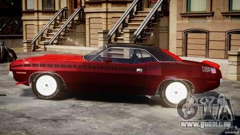 Plymouth Cuda AAR 340 1970 für GTA 4 Innenansicht