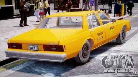 Chevrolet Impala Taxi 1983 [Final] pour GTA 4 est un droit