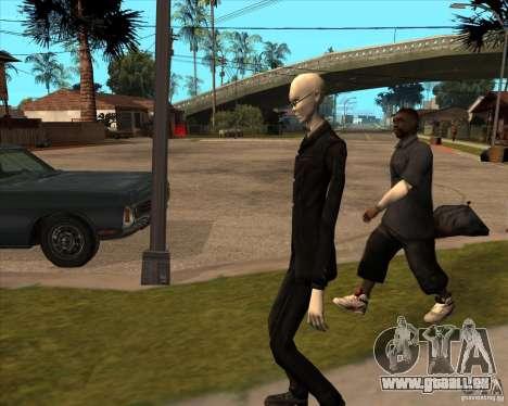 Slender en lunettes noires pour GTA San Andreas septième écran