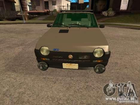 Fiat Ritmo für GTA San Andreas obere Ansicht