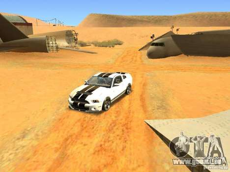 Ford Shelby GT500 für GTA San Andreas Innenansicht