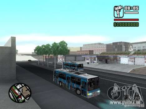 Marcopolo Torino GV Trolebus für GTA San Andreas Rückansicht