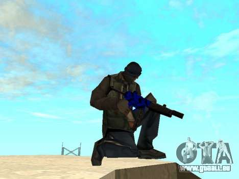 Blue and black gun pack für GTA San Andreas dritten Screenshot