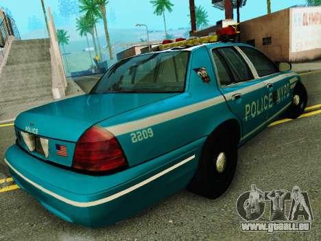 Ford Crown Victoria 2003 NYPD Blue pour GTA San Andreas vue de droite