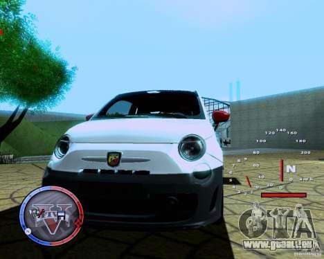 Fiat 500 Abarth für GTA San Andreas rechten Ansicht