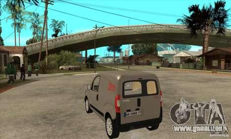Citroen Nemo 2010 pour GTA San Andreas sur la vue arrière gauche
