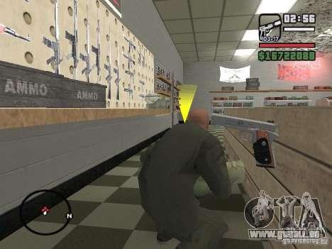 Silverballer de Hitman pour GTA San Andreas cinquième écran