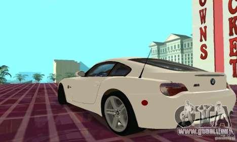 BMW Z4 E85 M pour GTA San Andreas salon