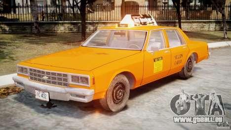 Chevrolet Impala Taxi v2.0 pour GTA 4 est une gauche