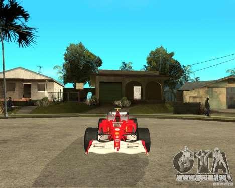 Ferrari F1 pour GTA San Andreas vue arrière